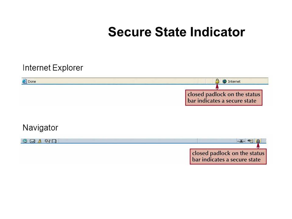 Secure State Indicator Internet Explorer Navigator