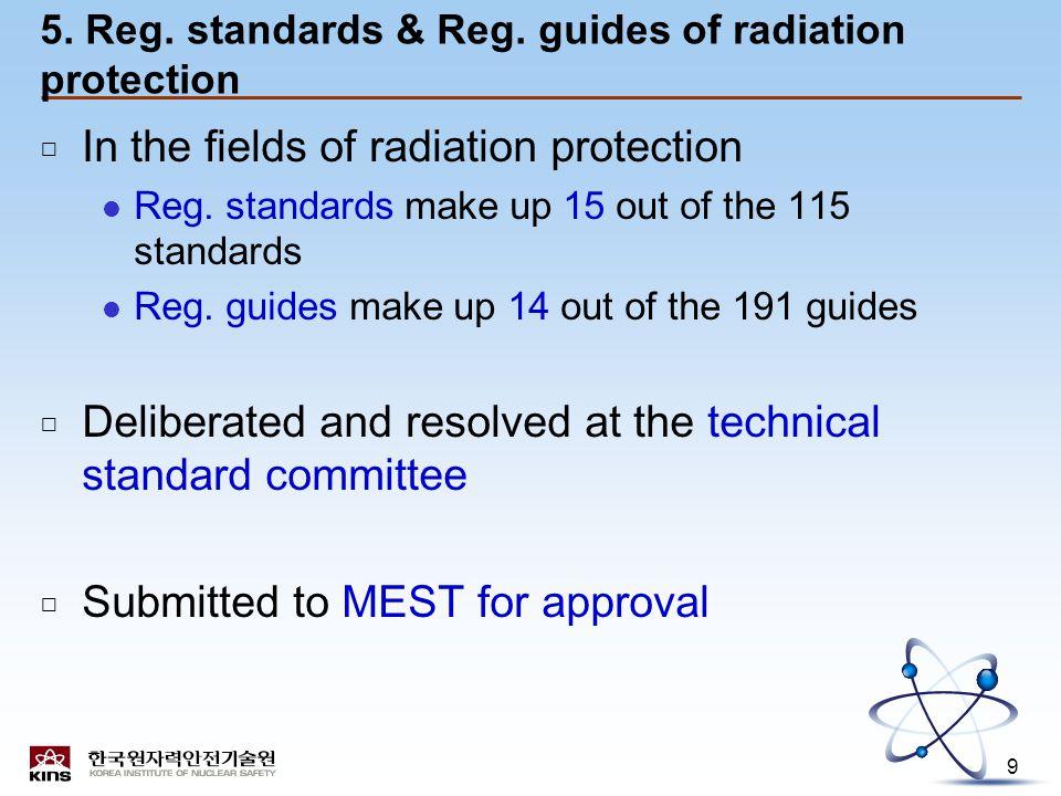 9 5. Reg. standards & Reg.