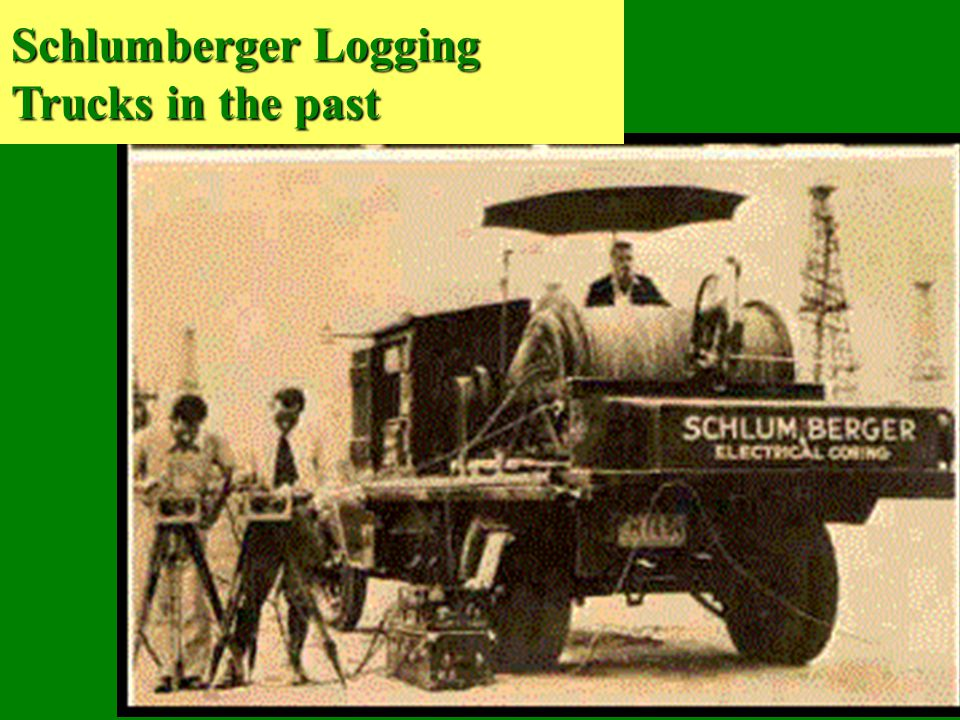 Schlumberger Logging Trucks in the past