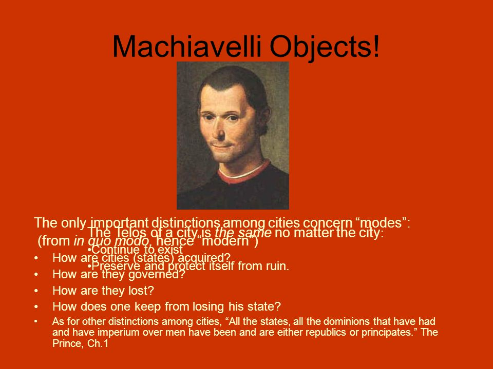 Machiavelli Objects.