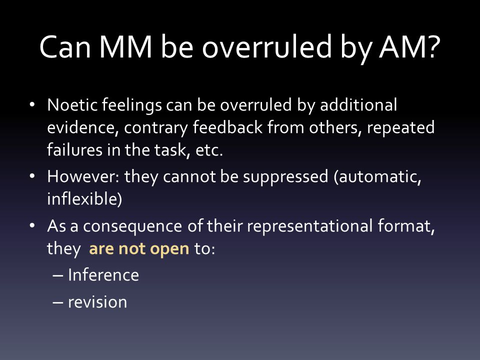 Can MM be overruled by AM.