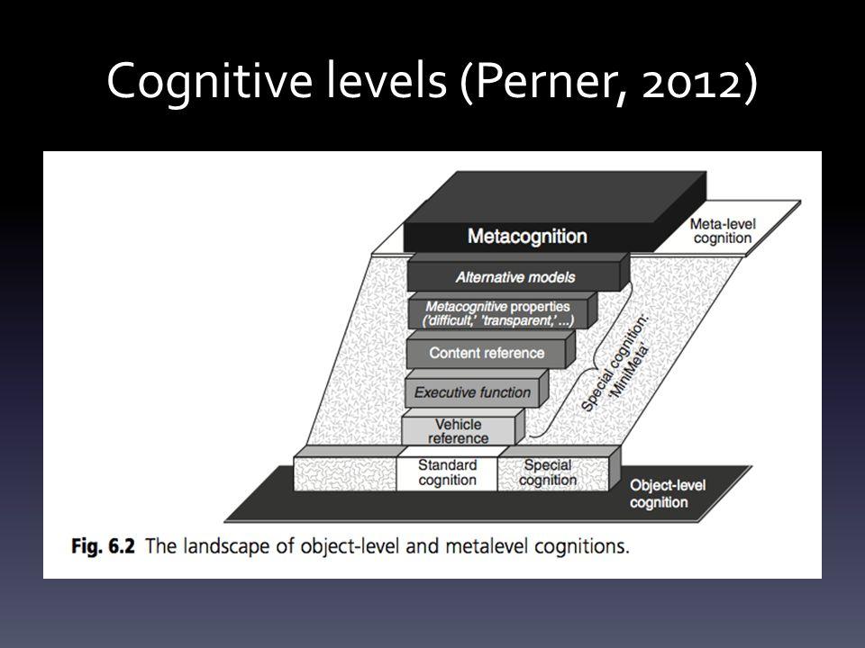 Cognitive levels (Perner, 2012)