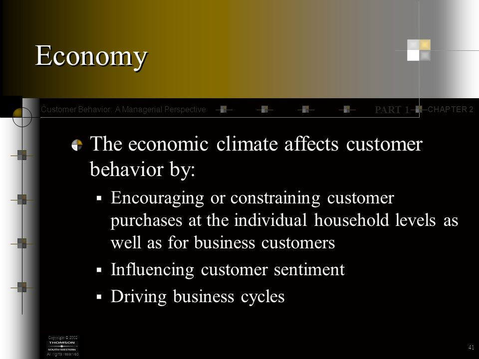 CHAPTER 2 PART 1 Customer Behavior: A Managerial Perspective Copyright © 2002 All rights reserved.