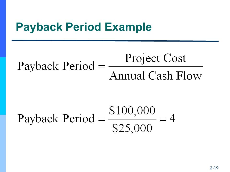 2-19 Payback Period Example