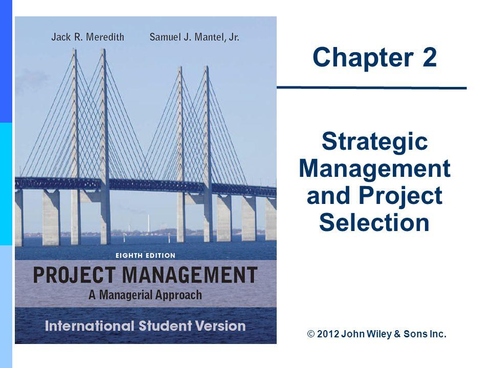 2-44 Project Portfolio Process Steps 1.Establish a project council 2.