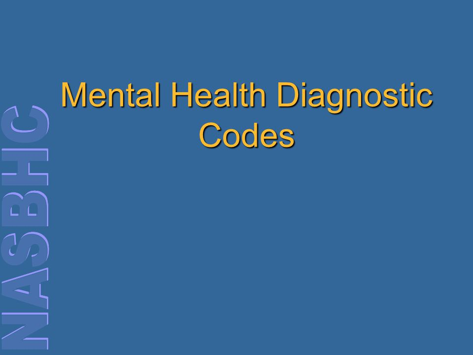Mental Health Diagnostic Codes