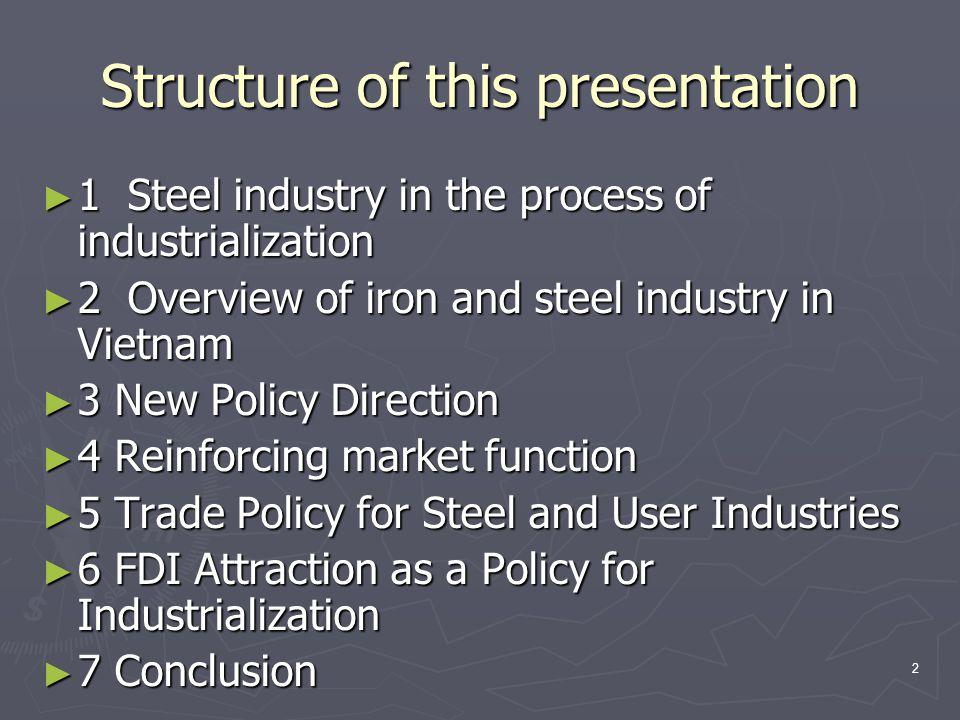 3 1 Steel industry in the process of industrialization
