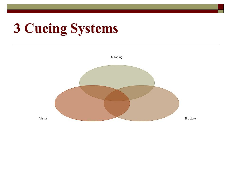 3 Cueing Systems Meaning StructureVisual