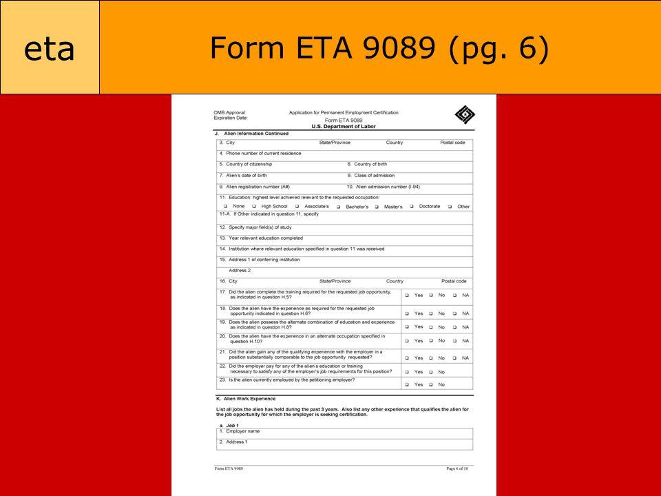 eta Form ETA 9089 (pg. 6)