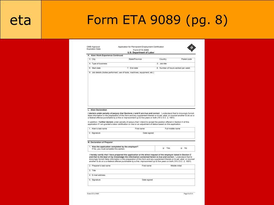 eta Form ETA 9089 (pg. 8)