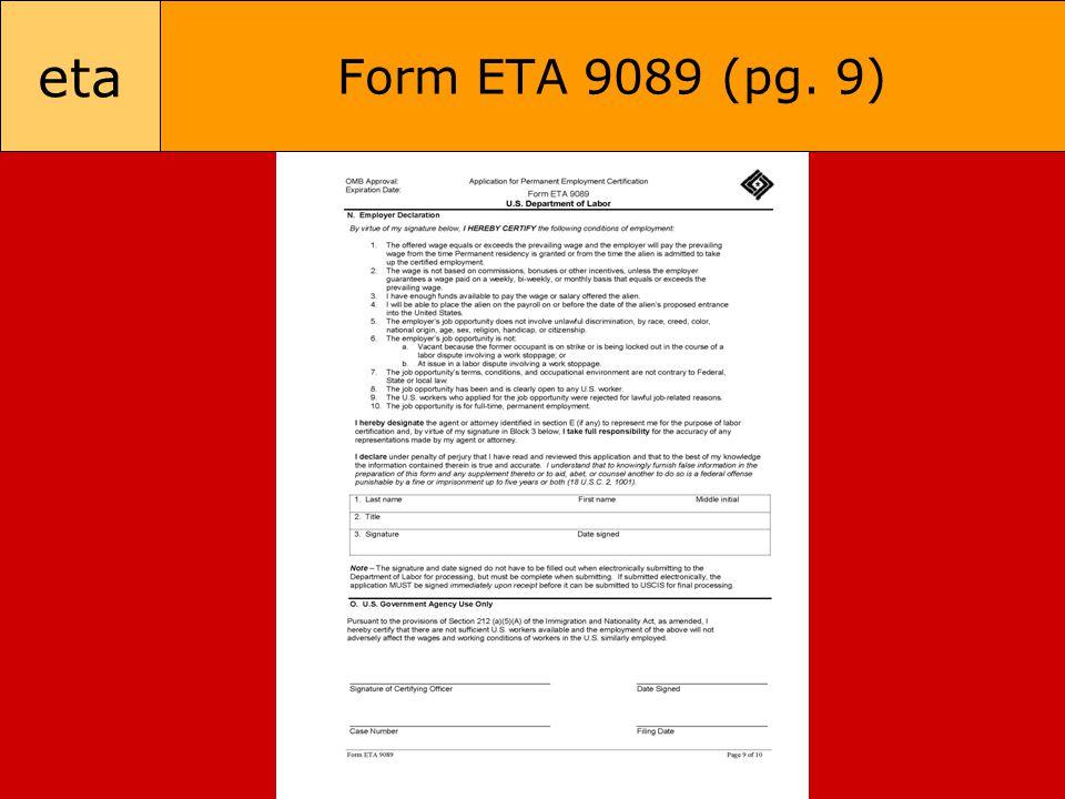 eta Form ETA 9089 (pg. 9)