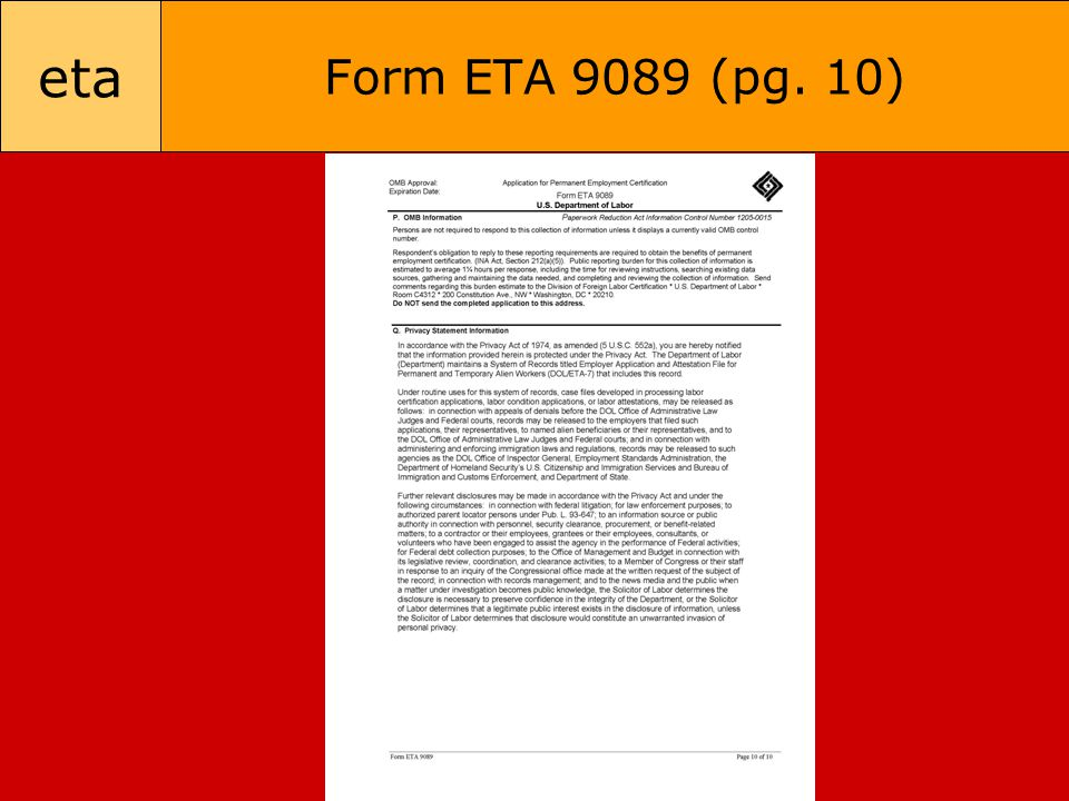 eta Form ETA 9089 (pg. 10)