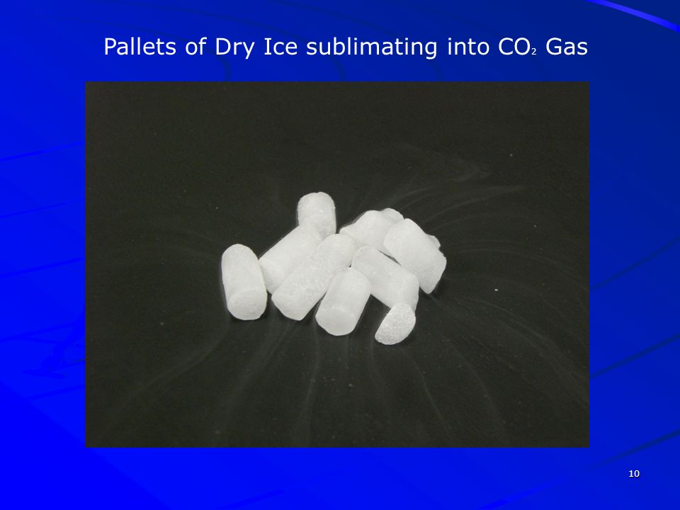 10 Pallets of Dry Ice sublimating into CO 2 Gas