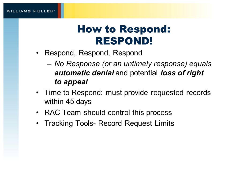 How to Respond: RESPOND.