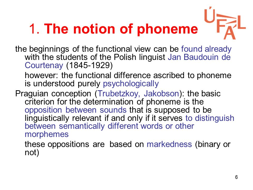 7 The notion of phoneme (Cont.) definition of phoneme – do vs.