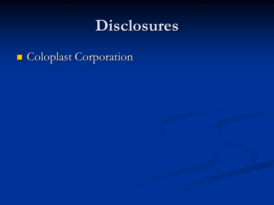Disclosures Coloplast Corporation Coloplast Corporation