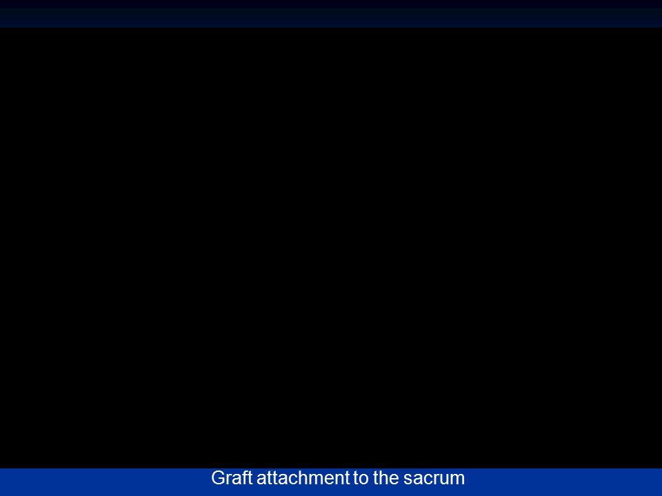 Graft attachment to the sacrum