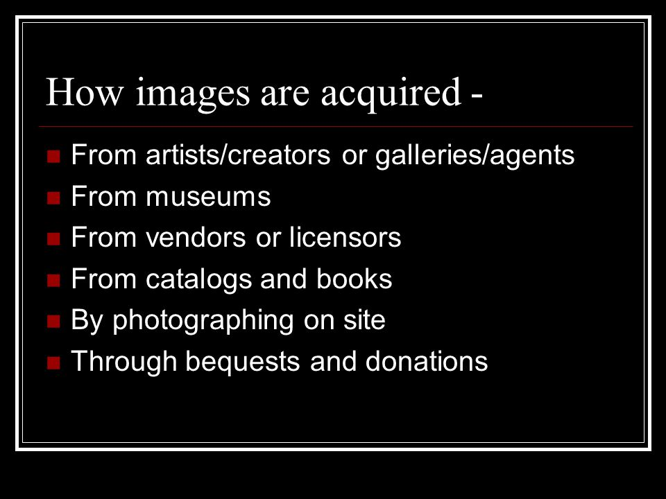 Museums' fears Images will be lost forever if they are freely available The promised revenue stream from images may never be realized Museums will not be able to protect their interests and act responsibly Attendance will suffer if images are too readily accessible