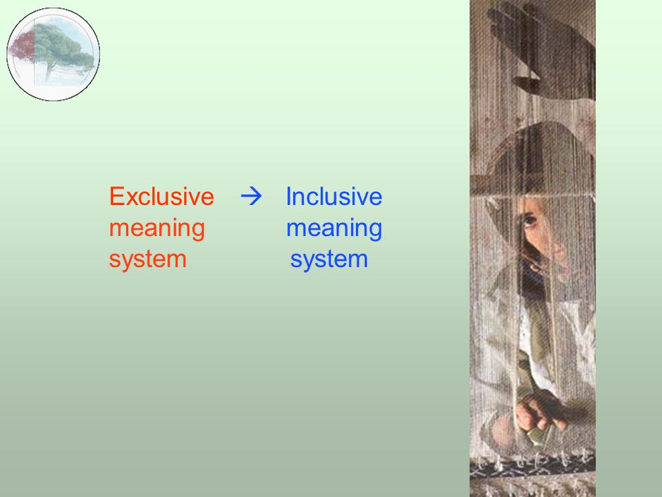  Exclusive  Inclusive meaning meaning system system