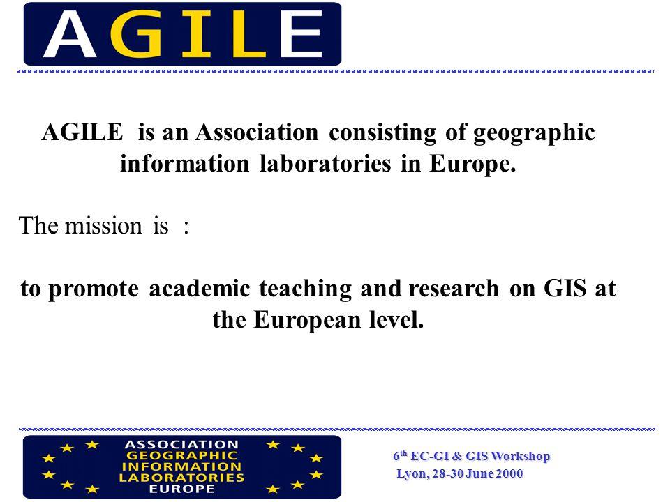 6 th EC-GI & GIS Workshop Lyon, 28-30 June 2000 EC themes : infomobility integration of ITT large data bases multimedia infomobility and e-commerce multifarious uses of GI ……………..