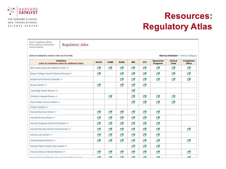 Resources: Regulatory Atlas
