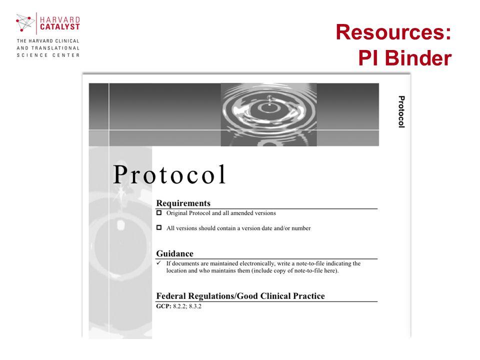 Resources: PI Binder