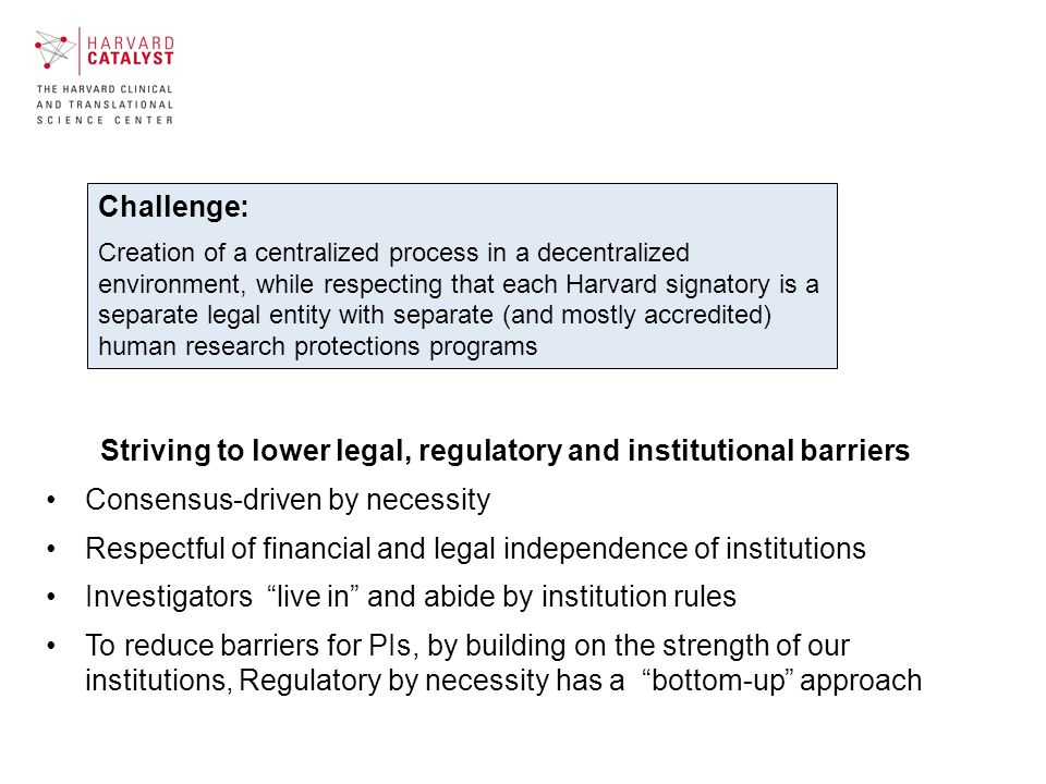 Participating Institutions – Initial Business Challenges Early Decisions: Definition of participation (all.