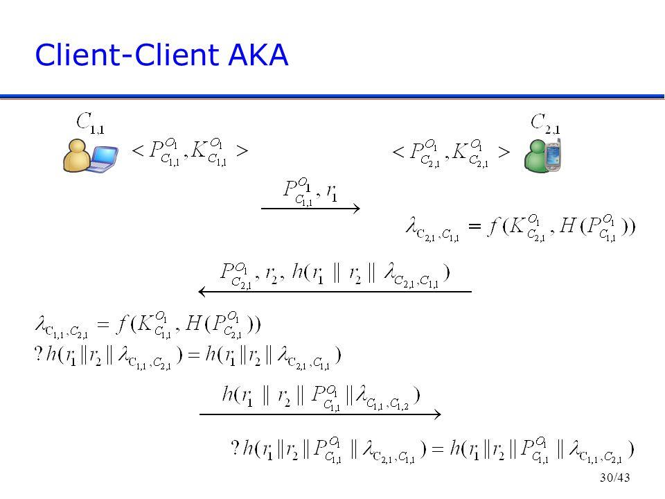 30/43 Client-Client AKA