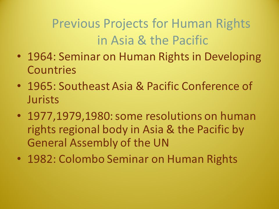 Procedural Law Aspect Human Rights Court in other regions EuropeNorth/South America Africa Regional InstituteCouncil of EuropeOrganization of American States African Union Convention Charter Convention for the Protection of Human Rights and Fundamental Freedoms American Convention of Human rights African Chatter on Human and People's Rights JudiciaryCourt (old 1959, new 1998) Court (1980)Court (2006) PlaintiffState/Individual citizen State/Individual Citizen State/Citizen*