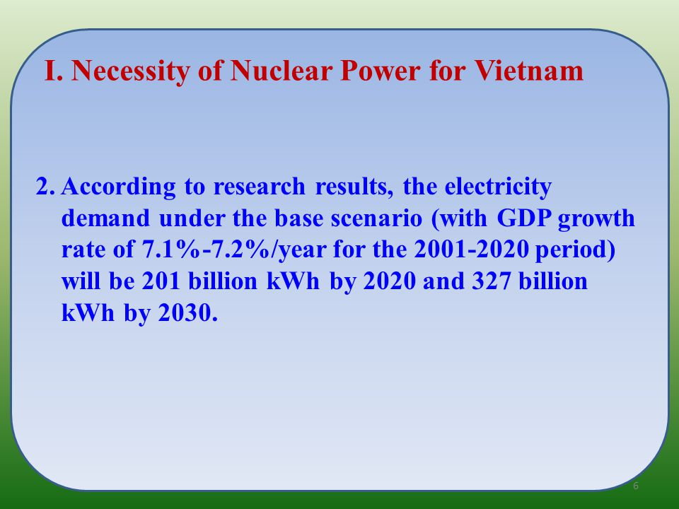 5.Vietnam highly appreciates IAEA INIR methodology and misssion to the country.