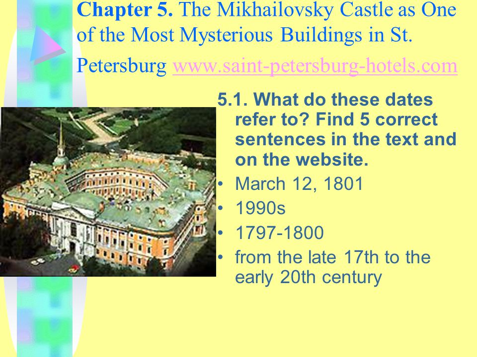 Chapter 5. The Mikhailovsky Castle as One of the Most Mysterious Buildings in St.