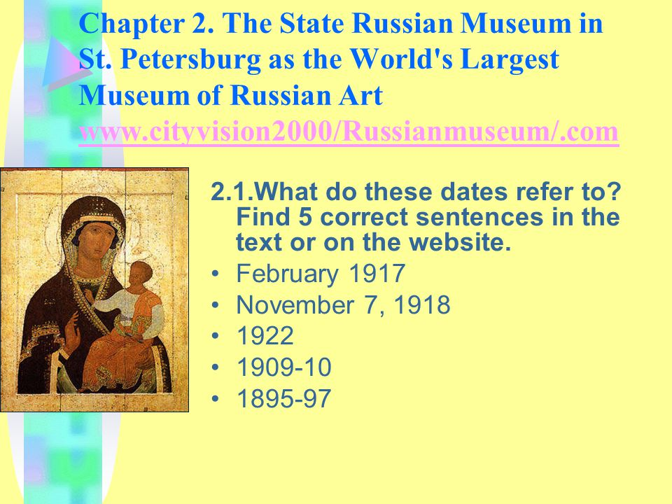 Chapter 2. The State Russian Museum in St.