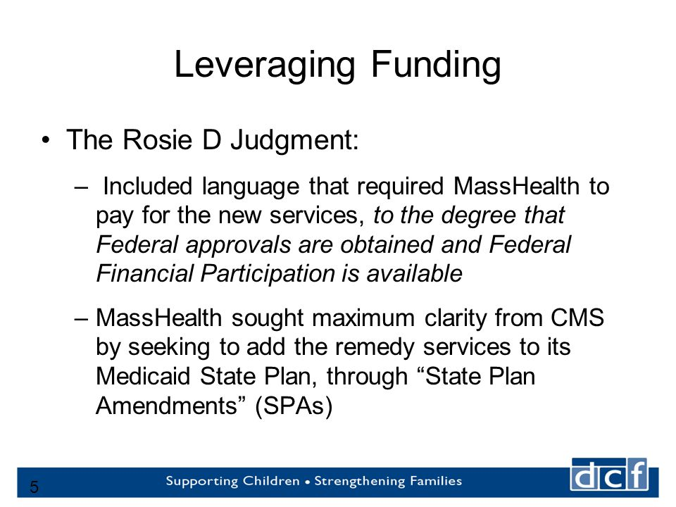 6 Financing Through State Plan Amendment Opportunities and Risks Pros: Financial Partner to share cost…….not only state contributions Provide clear authority, not dependent upon periodic waiver renewals Cons: Can be costly to implement Services must be available statewide Must meet medical necessity criteria 6