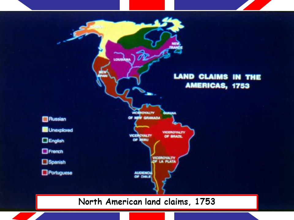 North American land claims, 1753