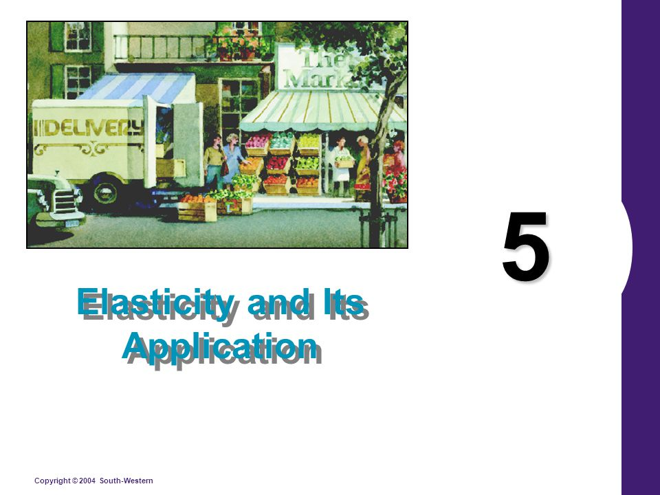 Copyright © 2004 South-Western 5 Elasticity and Its Application