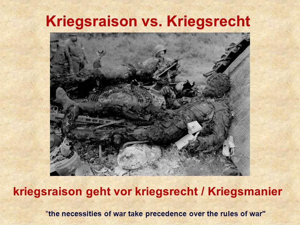 Kriegsraison vs.