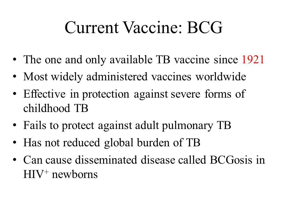 Candidate TB Antigens for Vaccine Development
