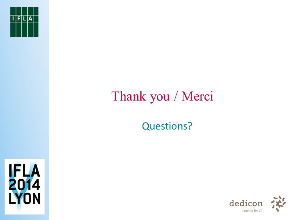 Questions Thank you / Merci