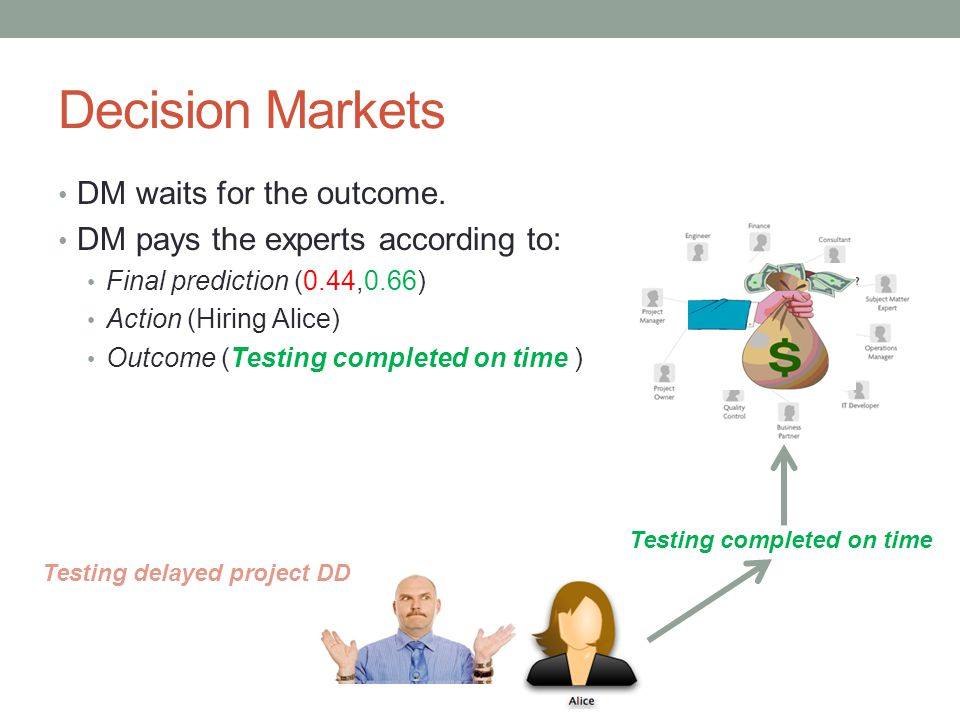 Decision Market - Definition Prediction market is a special case of decision market.