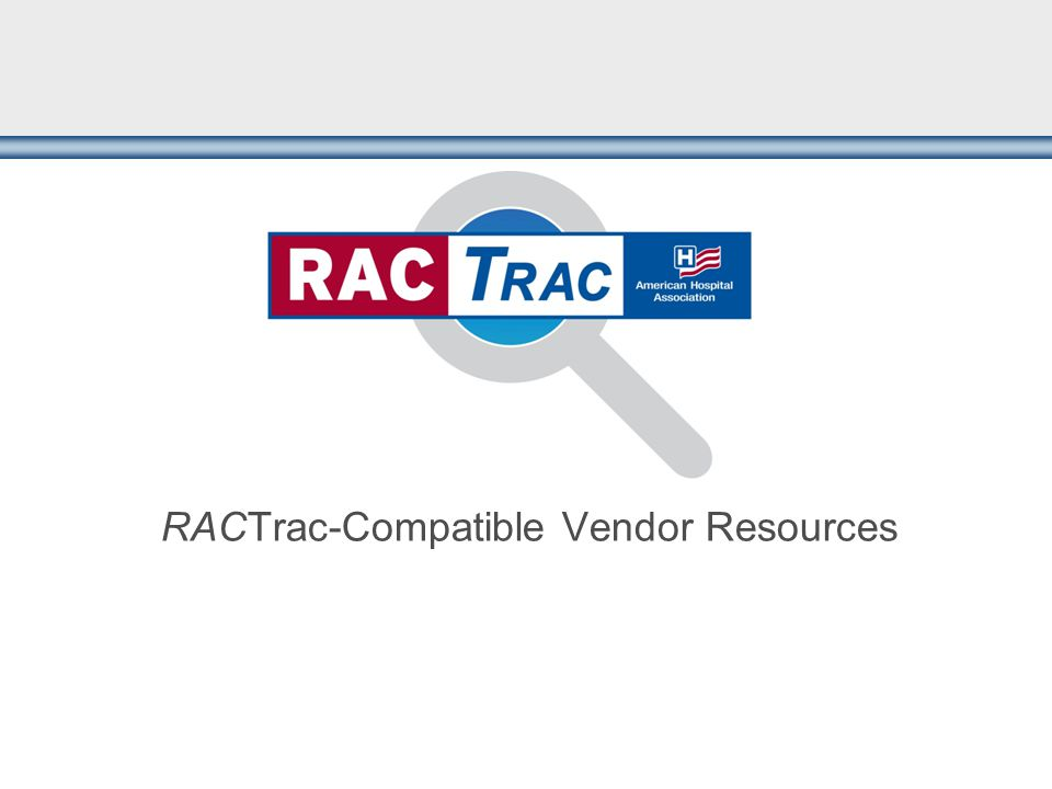 RACTrac-Compatible Vendor Resources