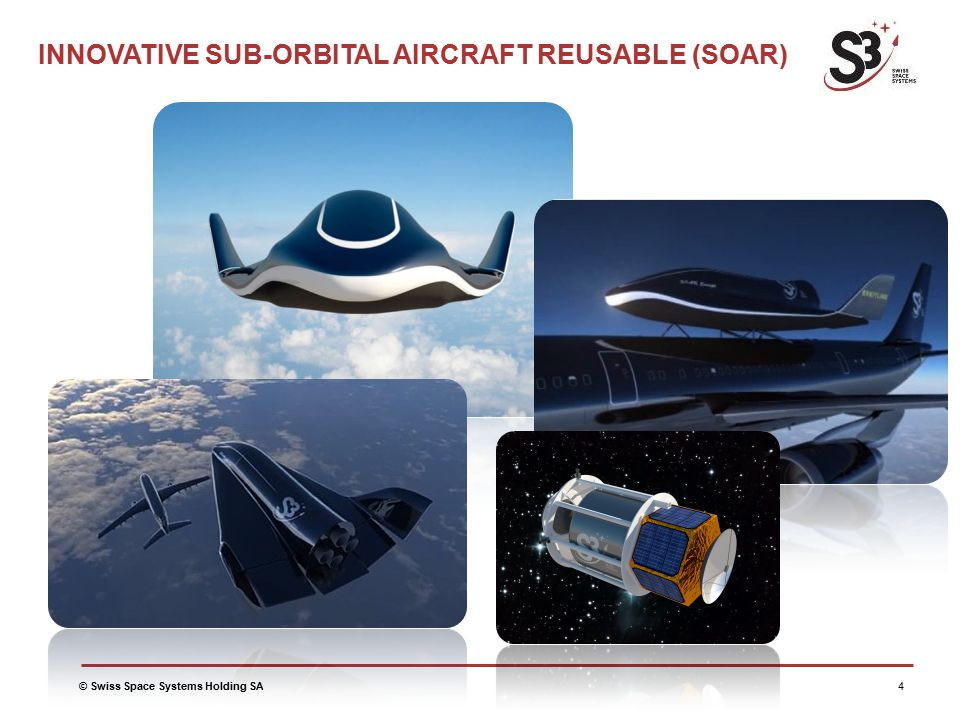 © Swiss Space Systems Holding SA4 INNOVATIVE SUB-ORBITAL AIRCRAFT REUSABLE (SOAR)