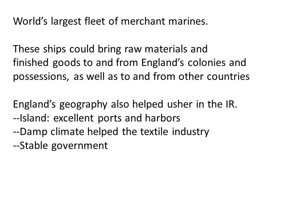 World's largest fleet of merchant marines.