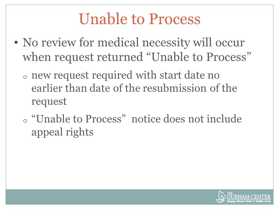 Reauthorization If TDC denies re-authorization request, payment stops on May 31.