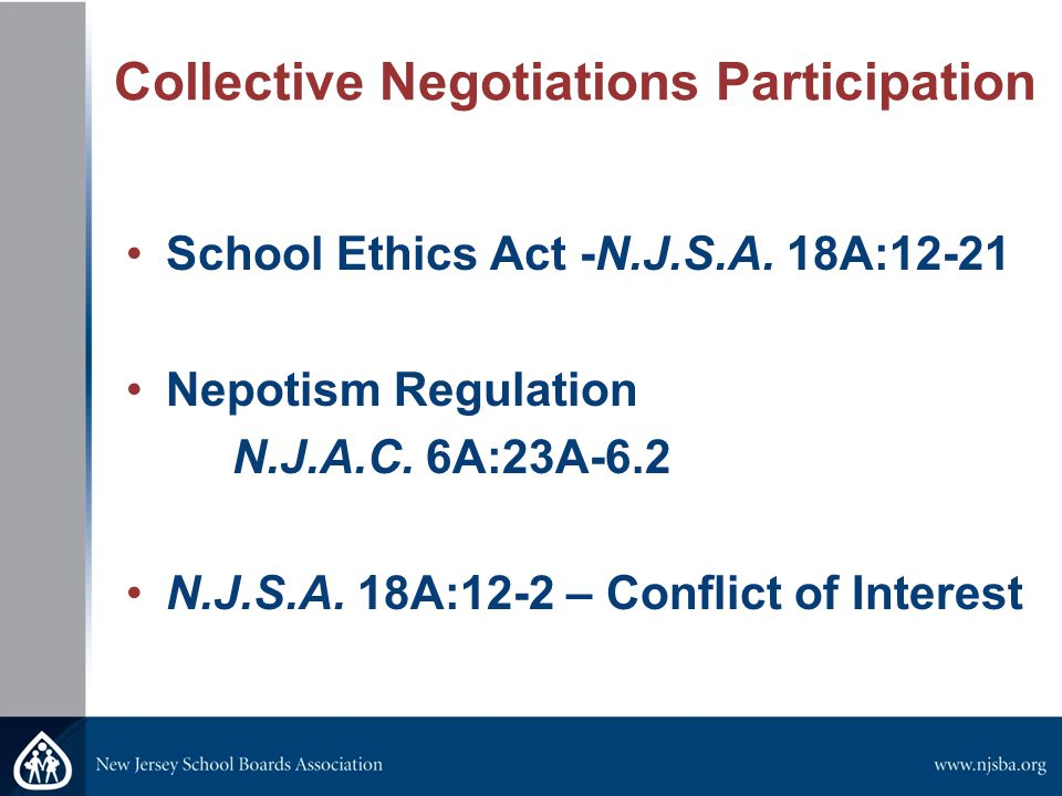 Collective Negotiations Participation School Ethics Act -N.J.S.A.