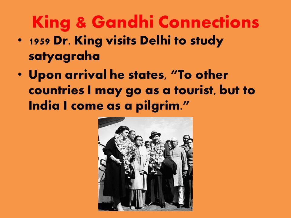 King & Gandhi Connections 1959 Dr.