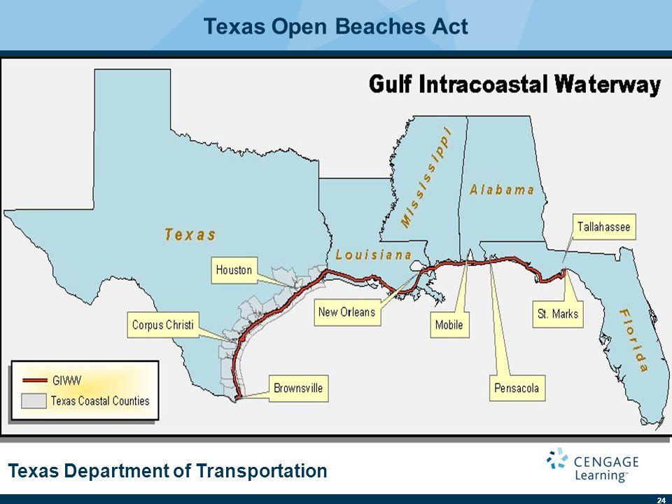 24 Texas Department of Transportation Texas Open Beaches Act