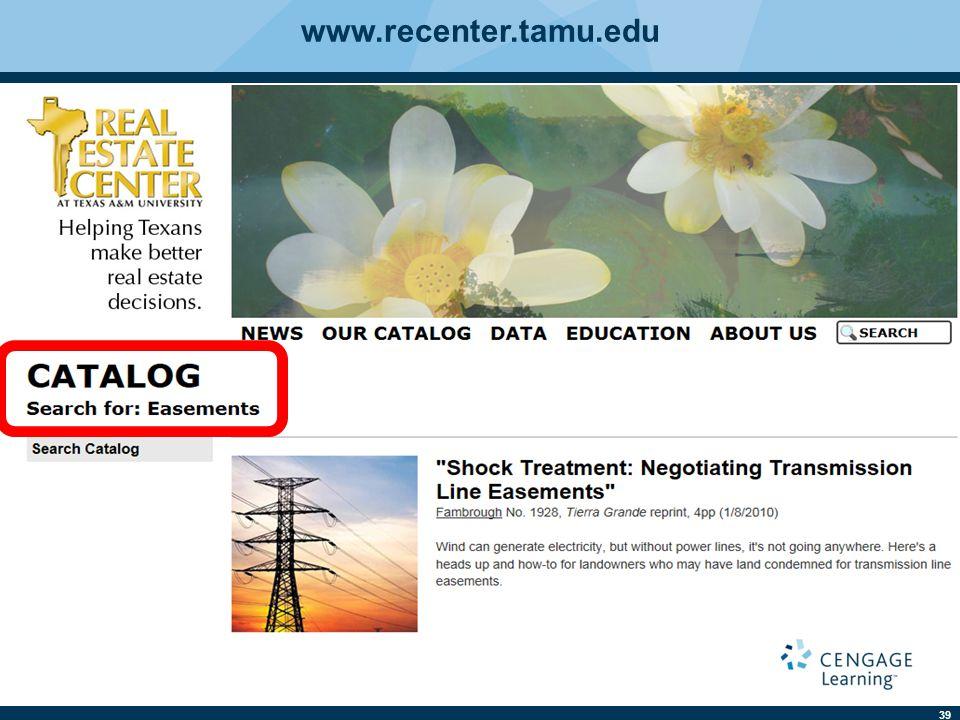 39 www.recenter.tamu.edu