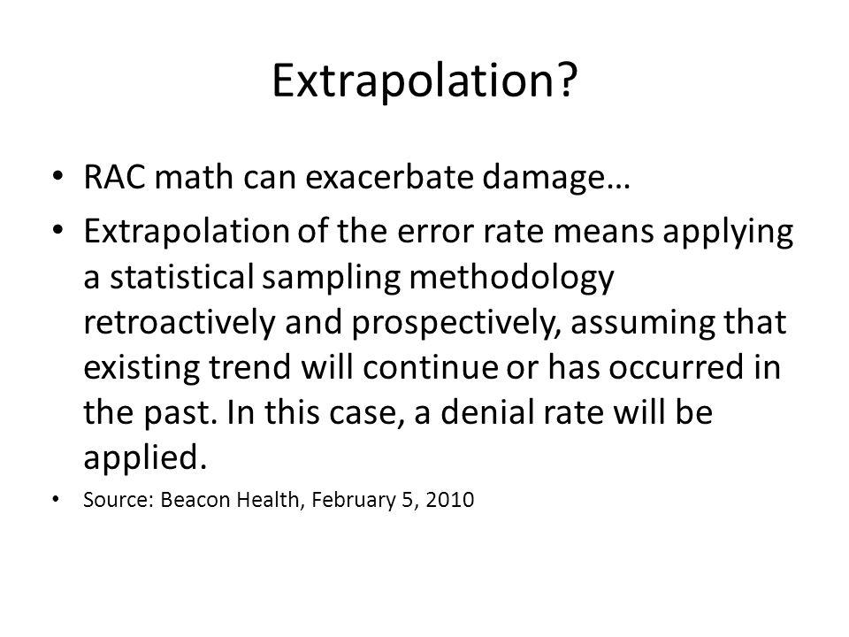 Extrapolation.