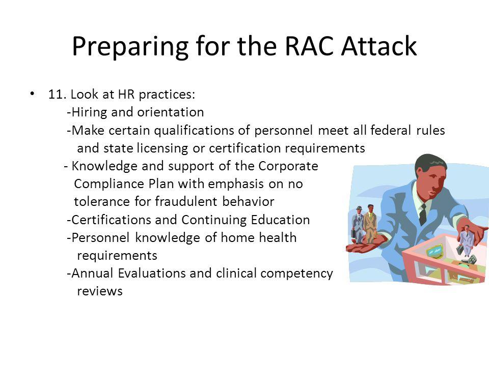 Preparing for the RAC Attack 11.