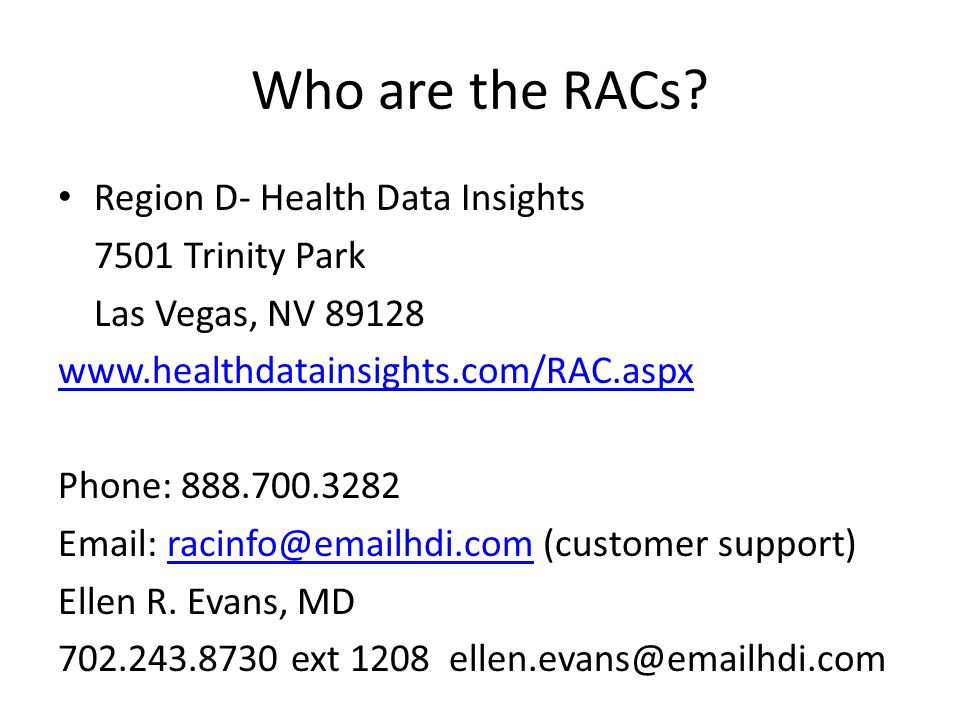 Who are the RACs.